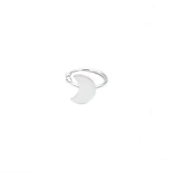 ear cuff luna en plata de ley 925