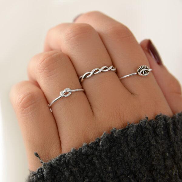 anillos en plata de ley