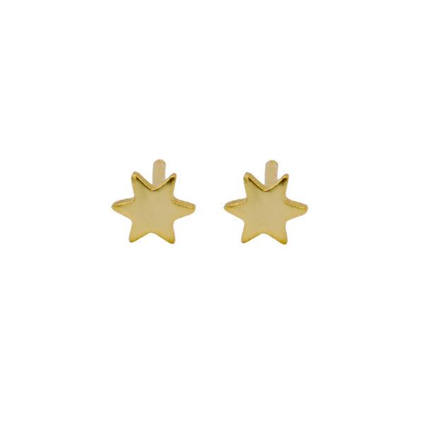 Pendiente Estrella en baño de oro