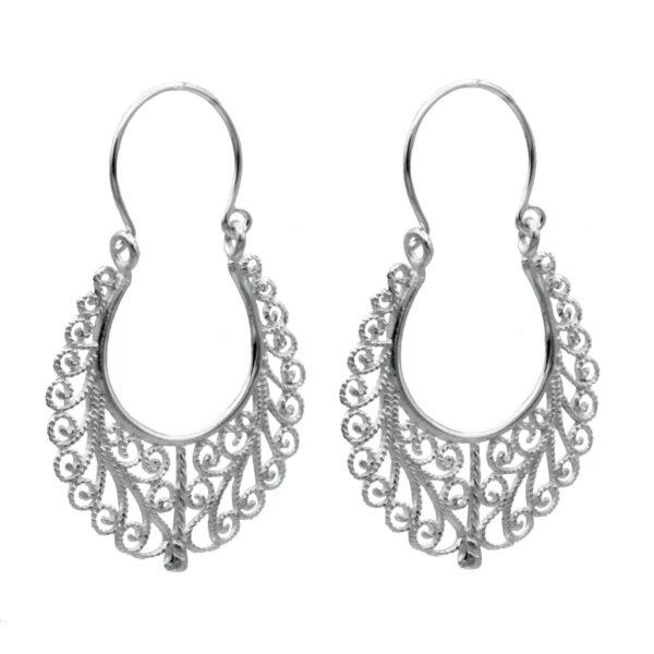 Pendiente Labrado Indio | Pendientes plata mujer | Plata de Ley 925