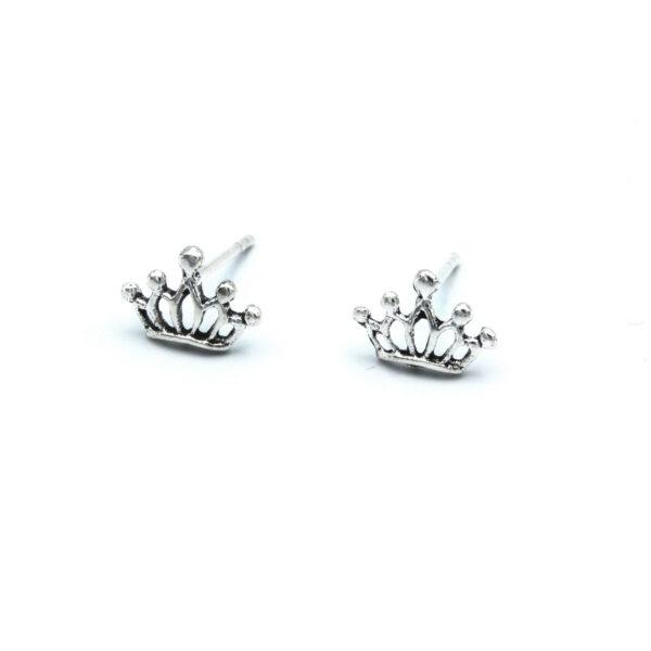 Pendiente pequeño corona plata de ley 925